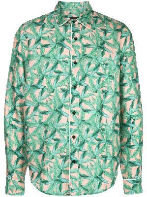 AMIRI banana leaf satin pajama shirt