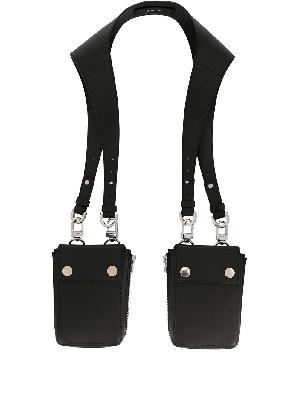 AMIRI draped leather shoulder bag