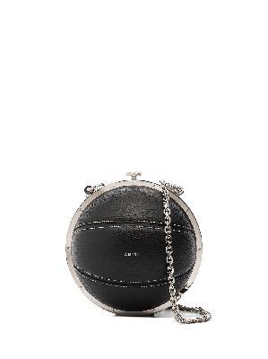 AMIRI Basketball leather shoulder bag