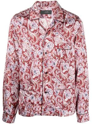 AMIRI paisley-print long-sleeve pyjama shirt