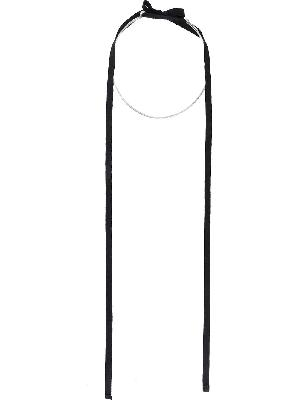 Ann Demeulemeester hoop ribbon tie necklace