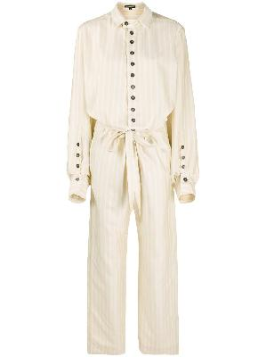 Ann Demeulemeester striped belted jumpsuit
