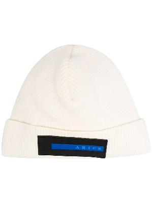 Aries logo-patch beanie hat