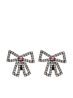 Ashley Williams crystal-embellished bow-shape earrings