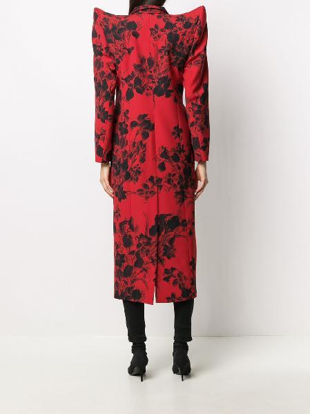 Balenciaga floral-print coat