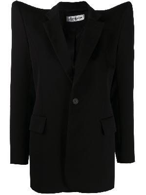 Balenciaga exaggerated-shoulder single-breasted jacket