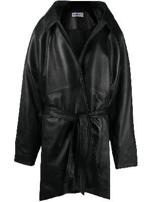 Balenciaga pyramid shoulder wrap jacket