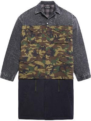 Balenciaga patchwork car coat