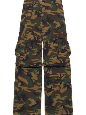 Balenciaga camouflage wide-leg trousers