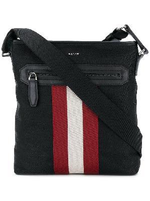 Bally stripe detail logo shoulder bag