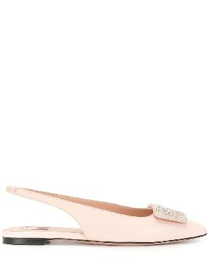 Bally pointed slingback loafers