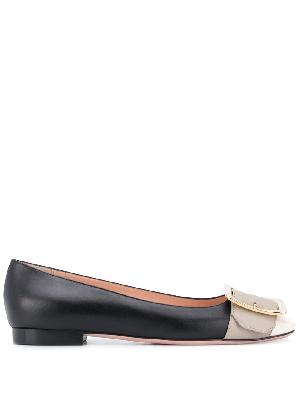 Bally Jackie buckle-detail ballerina shoes