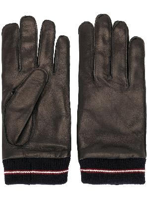Bally ribbed cuff gloves