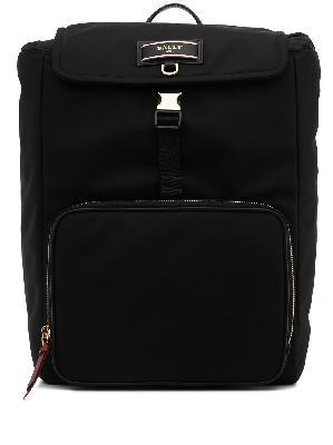 Bally Elza logo-patch backpack