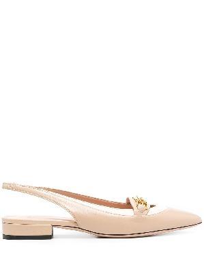 Bally horsebit-detail pointed ballerina shoes