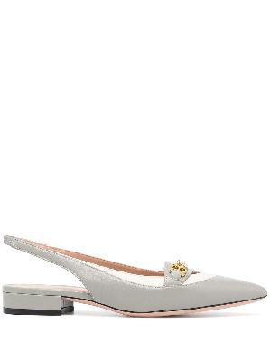 Bally Dianet leather ballerina shoes