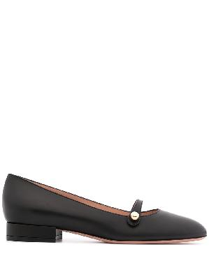 Bally Emylie leather ballerina shoes