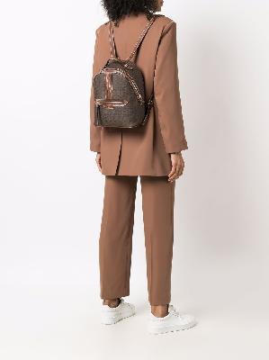 Bally Daffi monogram-print backpack
