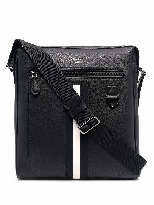 Bally striped zip-up leather shoulder bag