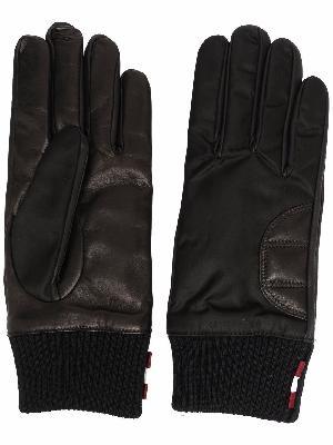 Bally embroidered-logo gloves