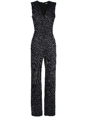 Balmain flared glittered jumpsuit