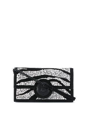 Balmain crystal-embellished smartphone case 11cmx19cm
