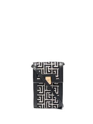 Balmain monogram leather phone case
