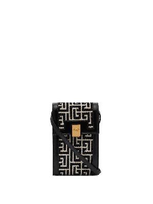 Balmain monogram-pattern phone holder
