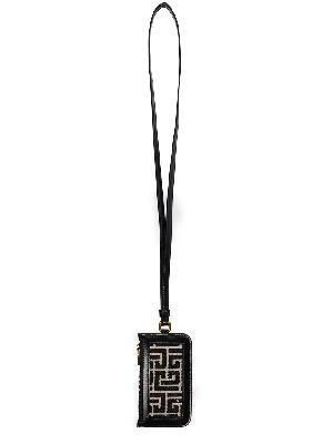Balmain monogram jacquard strap wallet
