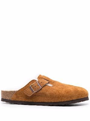 Birkenstock Boston fur slippers