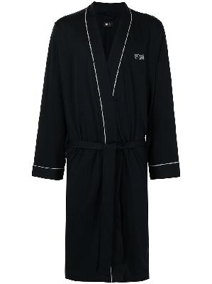 BOSS logo-embroidered dressing gown