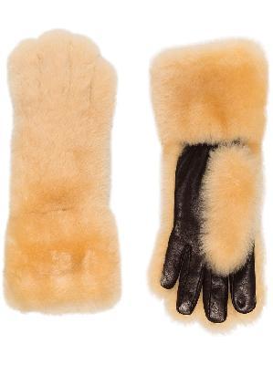 Bottega Veneta faux-shearling gloves