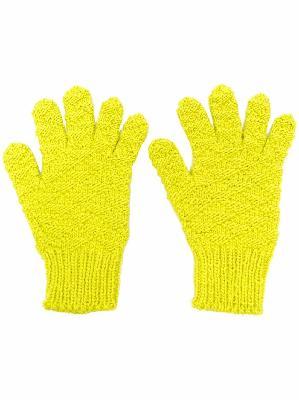 Bottega Veneta knitted wool gloves