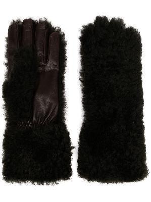 Bottega Veneta textured panelled gloves
