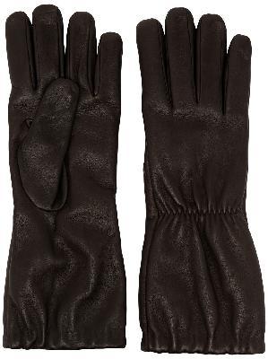 Bottega Veneta gathered leather gloves