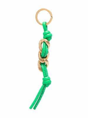 Bottega Veneta knotted chain-link keyring
