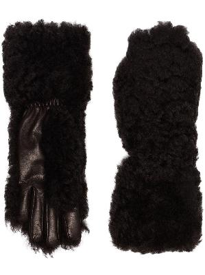 Bottega Veneta shearling leather gloves