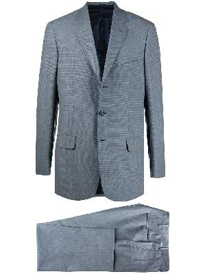 Brioni single-breasted gingham check suit