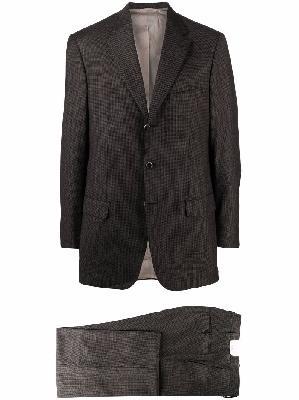 Brioni houndstooth wool slim-fit suit