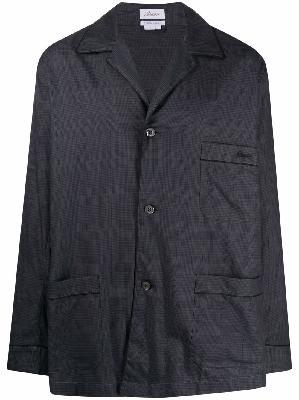 Brioni check-print embroidered-logo pajama set