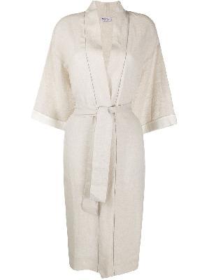 Brunello Cucinelli batwing-sleeve tied-waist robe