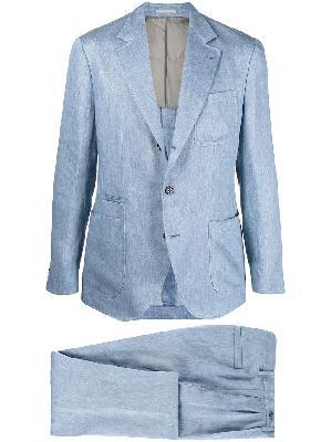 Brunello Cucinelli single-breasted linen suit