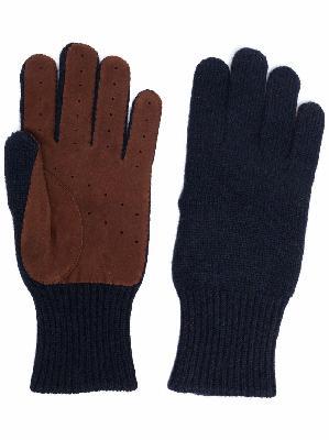 Brunello Cucinelli perforated cashmere gloves