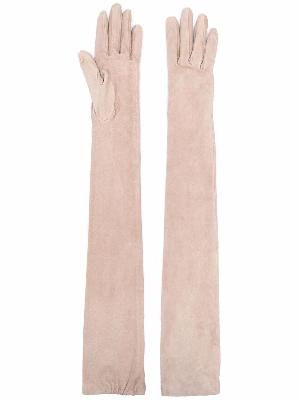 Brunello Cucinelli long-length leather gloves