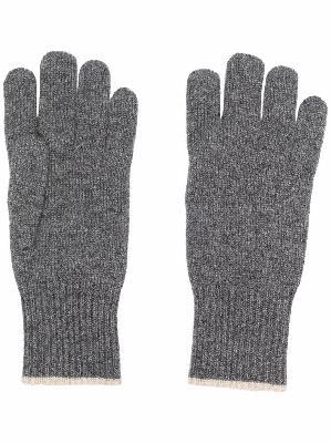 Brunello Cucinelli ribbed-knit cashmere gloves