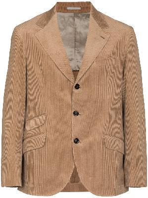 Brunello Cucinelli single-breasted corduroy blazer
