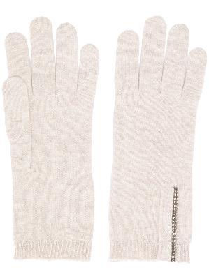 Brunello Cucinelli fine knit gloves