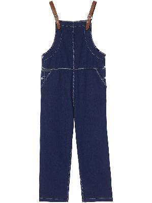 Burberry topstitch denim jumpsuit
