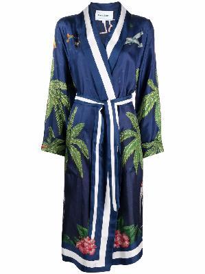 Casablanca graphic-print silk robe