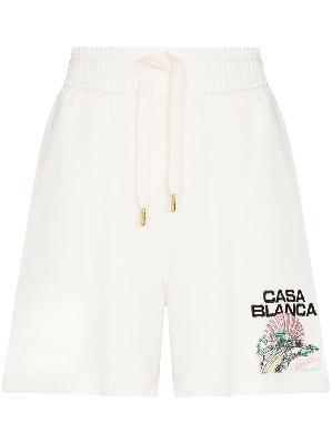 Casablanca Racing embroidered drawstring shorts